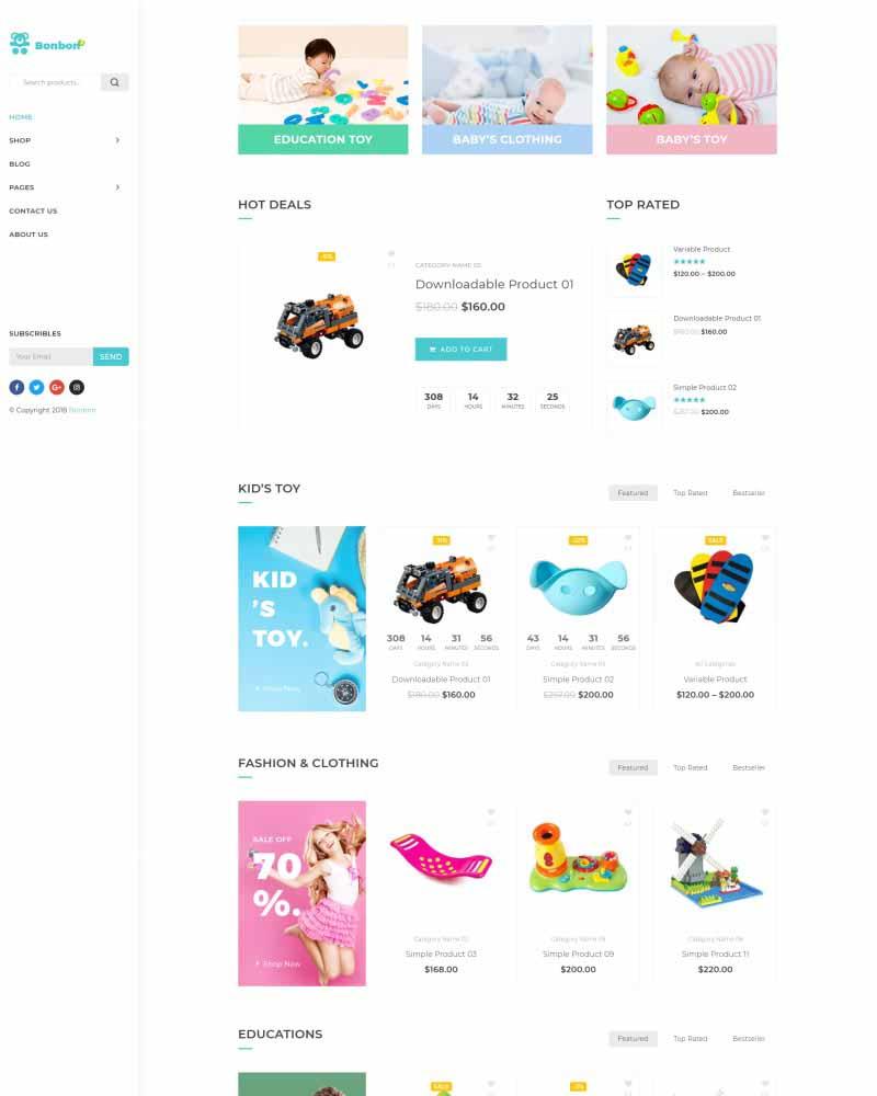 554babebc352 Bonbon - Free Baby Shop & Kids Store WooCommerce Theme