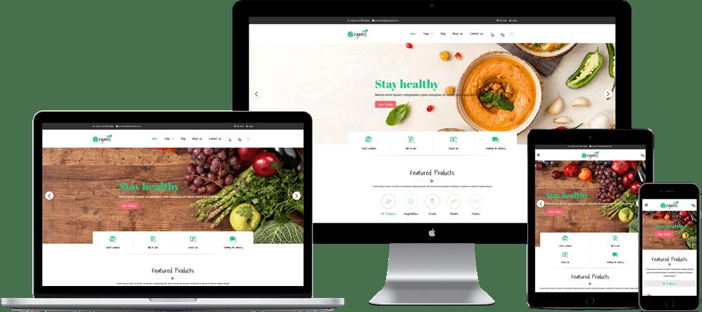 Organic - Free Organic Food Elementor WooCommerce Theme