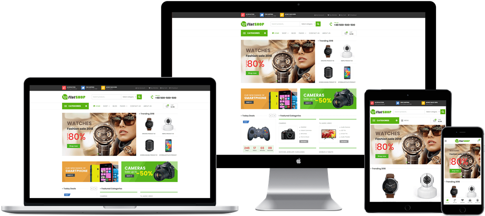 FlatSHOP - Free Multipurpose Elementor WooCommerce Theme