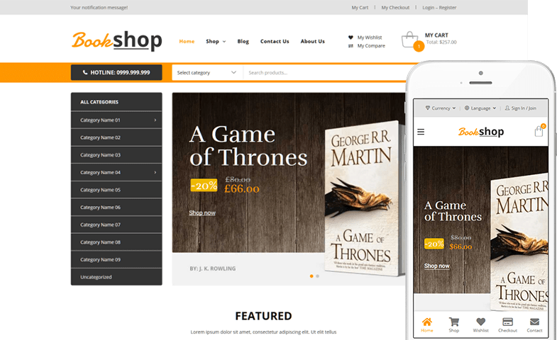 Book Shop WooCommerce Theme