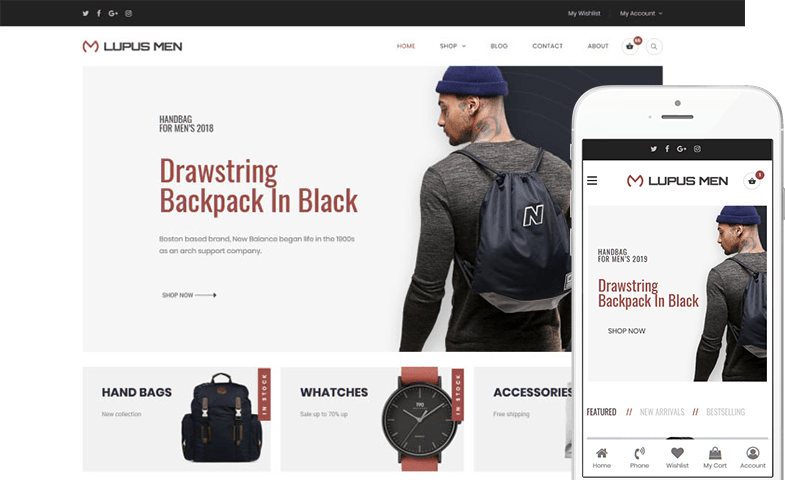 Lupus Men WooCommerce Theme