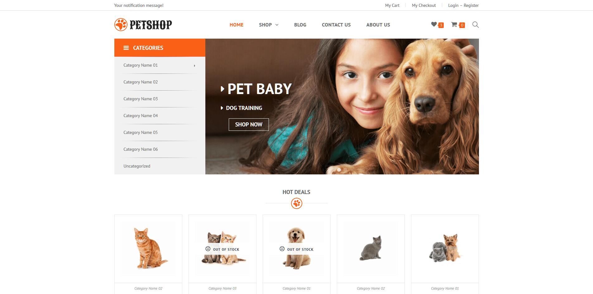 WooVina PetShop Demo