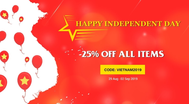 Happy Vietnamese Independence Day: 25% OFF for all Products and Subscriptions