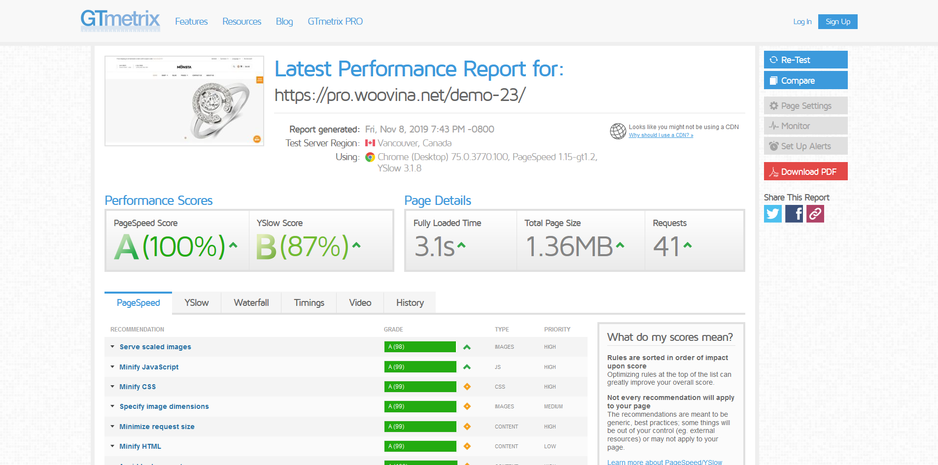 Optimize your site speed and performance