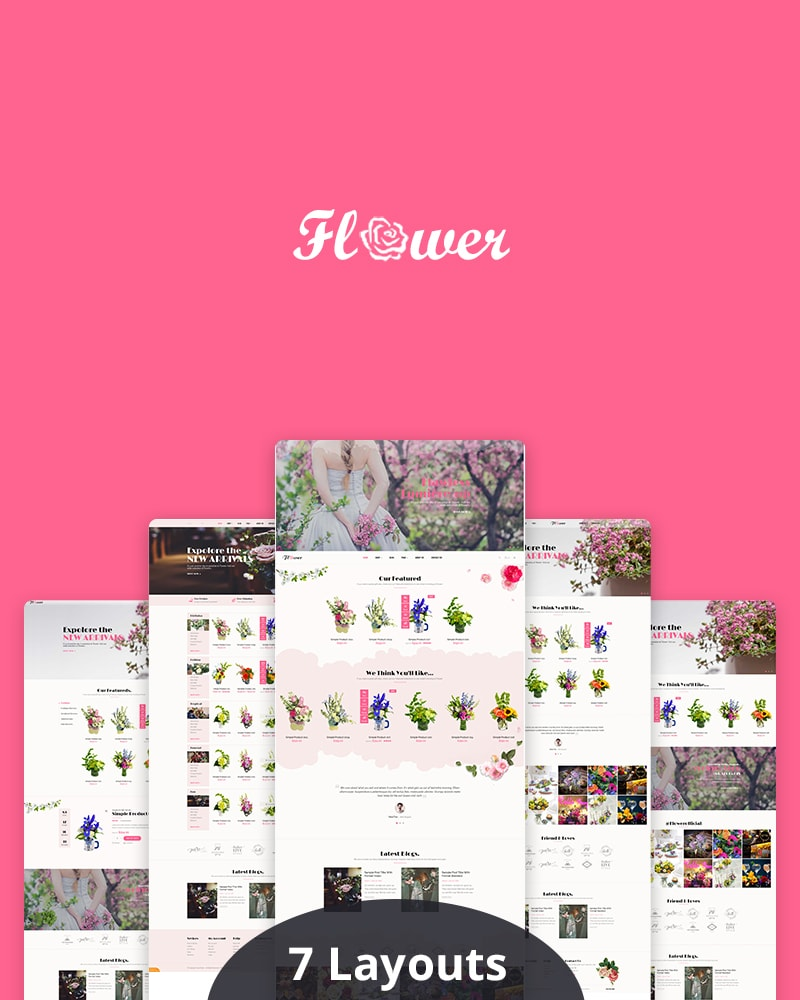 Free WooCommerce WP Theme for Flower Shop