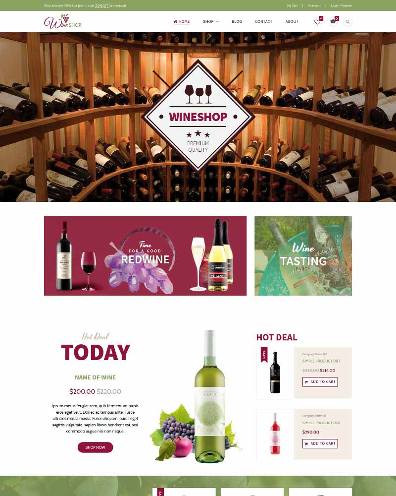Wine Shop - WooVina Theme