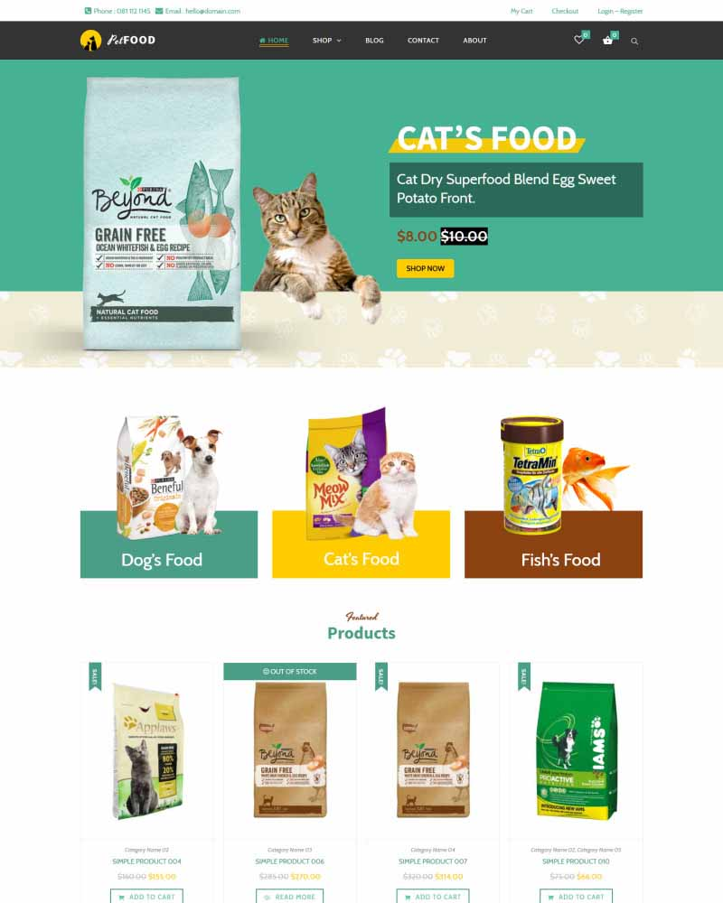 Pet Food - WooVina Theme