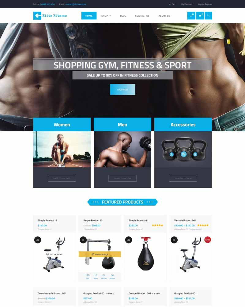 Elite Fitness - WooVina Theme