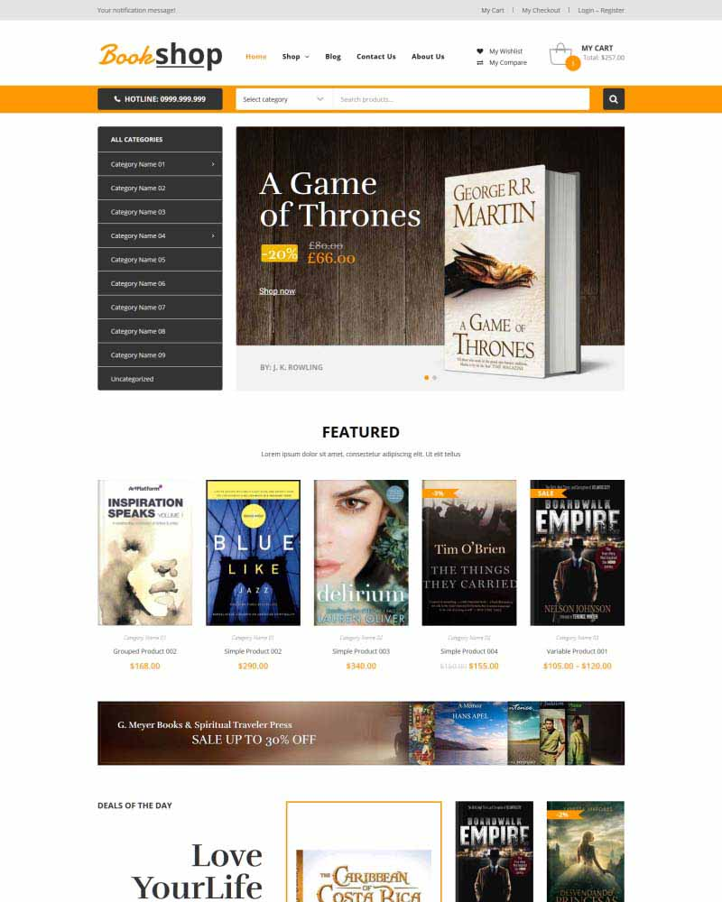 Book Shop - WooVina Theme